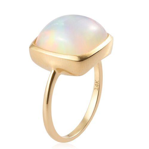 14K Yellow Gold AA Ethiopian Welo Opal Ring 5.00 Ct