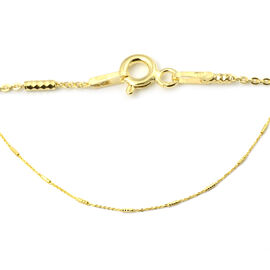 14K Gold Overlay Sterling Silver Chain (Size 24)