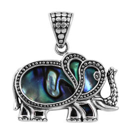 Royal Bali Beach Collection Abalone Shell Elephant Pendant in Sterling Silver 4 Grams