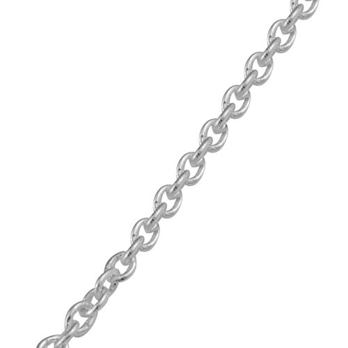 J Francis - Crystal from Swarovski Silver Shade Crystal (Rnd) Pendant with Chain (Size 30) in Platinum Overlay Sterling Silver