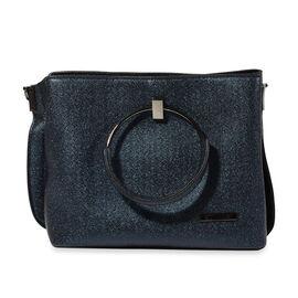Bulaggi Collection - Stacey Metallic Handbag (Size 24x20x11 Cm) - Dark Blue