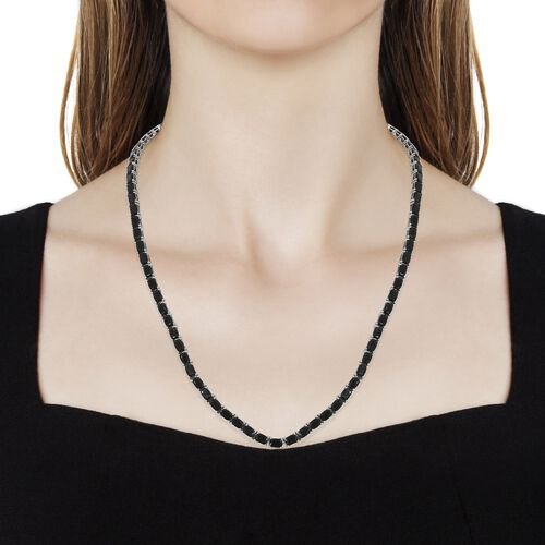 Elite Shungite (Cush) Necklace (Size 18 with 1.5 inch Extender) in Platinum Overlay Sterling Silver 21.75 Ct, Silver wt 20.50 Gms.