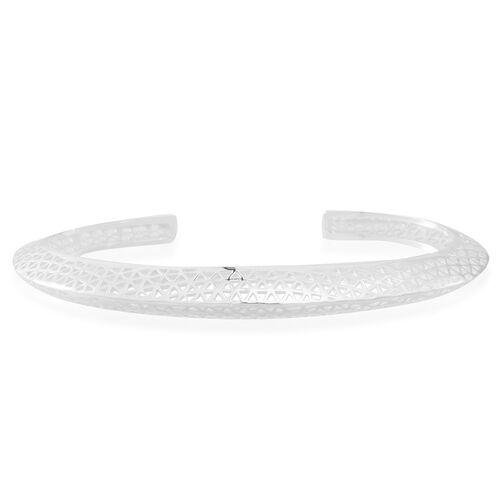 Vicenza Collection- Designer Inspired Sterling Silver Bangle (Size 7.5), Silver wt 17.00 Gms.