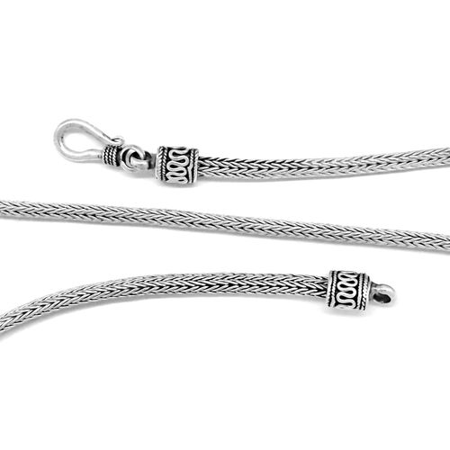 Limited Available-Royal Bali Collection Sterling Silver Tulang Naga Necklace (Size 24), Silver wt 30.32 Gms.
