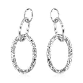 RACHEL GALLEY Allegro Drop Earrings with Push Back in Rhodium Plated Sterling Silver 10.53 Grams