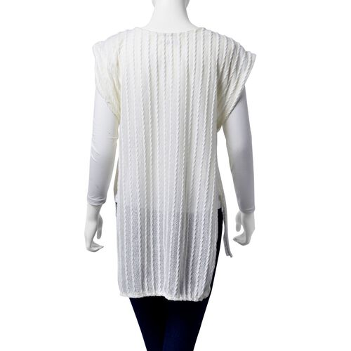 Off White Colour Woven Top with side detail (Size 80x50 Cm)