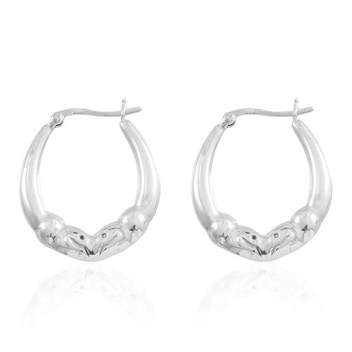 Sterling Silver Hoop Earrings (with Clasp), Silver wt. 5.21 Gms.