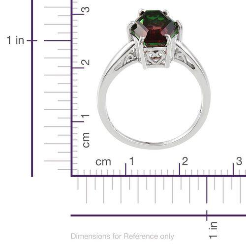 Tourmaline Colour Quartz Ring in Platinum Overlay Sterling Silver 5.000 Ct.