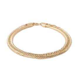 9K Yellow Gold Triple Link Bracelet (Size 8), Gold wt 7.30 Gms