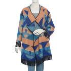 Blue and Orange Colour Cardigan Size 75x50 Cm