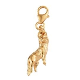 Fox Charm in 14K Gold Plated Sterling Silver