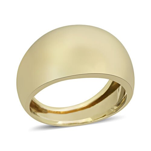 Vicenza Collection High Polish Graduated Band Ring in 9K Gold
