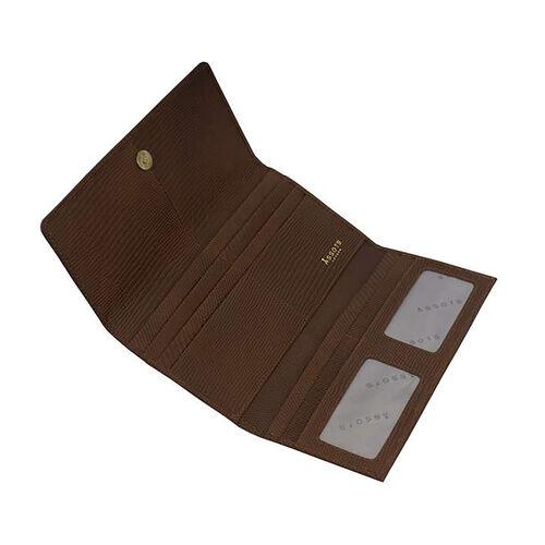 Assots London CLAIRE - 100% Genuine Leather Wallet (20x1.5x10cm) - Tan