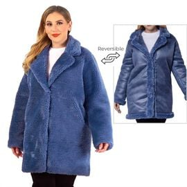 Classic Faux Fur Reversible Winter Coat (ONE SIZE) - CB 36 in