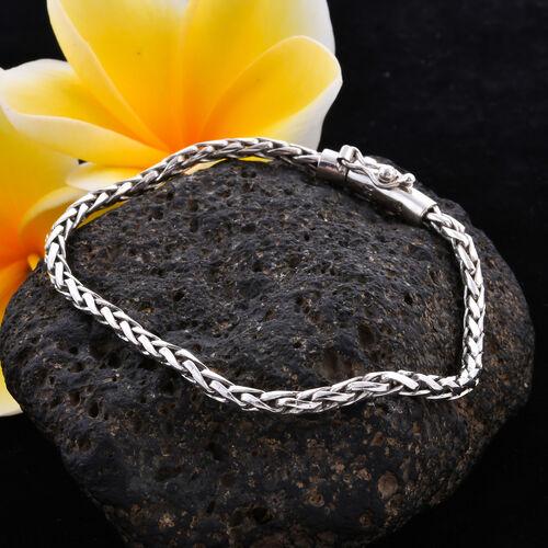 Royal Bali Collection - Sterling Silver Padian Bracelet (Size 7.5), Silver wt. 10.20 Gms