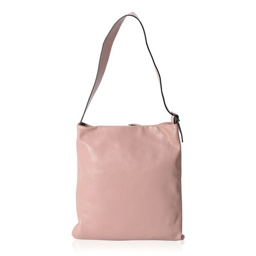 Close Out Deal 100% Genuine Leather Dusky Pink Colour Large Tote Bag with Adjustable Shoulder Strap