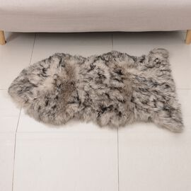 Faux Sheep Skin Rug (Size 100x60 Cm) - Chocolate