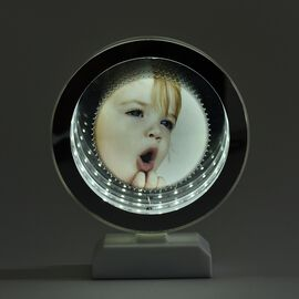 Multi-purpose LED Tunnel Light Round Frame (Size 22x11 Cm) - White Colour (3xAAA Battery not Include