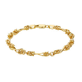 Italian Made - 9K Yellow Gold Twisted Byzantine Bracelet (Size 7.25)