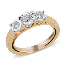 New York Close Out Deal - 14K Yellow  Gold Diamond (Rnd) (I2/G-H) Ring 0.500 Ct.