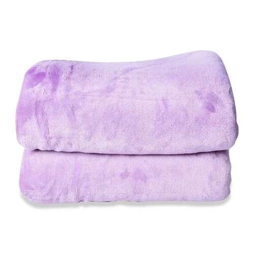 Warm & Soft Double Layer Sherpa Blanket (150x200 cm) OEKO-TEX Certified - Lavender