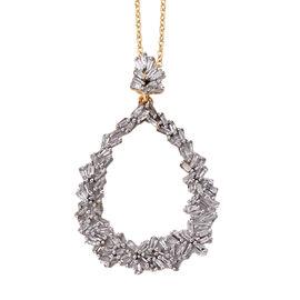 GP Diamond (Bgt), Kanchanaburi Blue Sapphire Pendant with Chain (Size 20) in 14K Gold Overlay Sterli