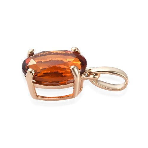 9K Yellow Gold Madeira Citrine Solitaire Pendant 0.75 Ct.