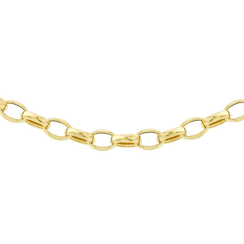 9K Yellow Gold Oval Belcher Chain (Size 22)