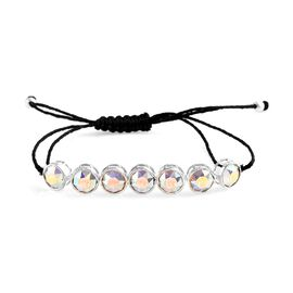 J Francis - Crystal from Swarovski AB Crystal (Round 7mm) Adjustable Bracelet (Size 6.5 to 9.5) in S