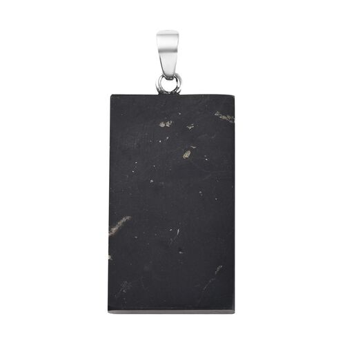 Constituted Elite Shungite Pendant in Sterling Silver 41.96 Ct.