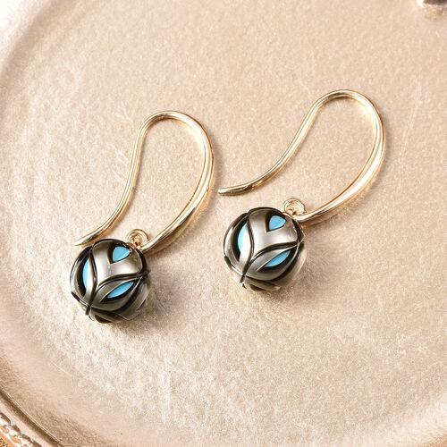 Galatea Pearl - 9K Yellow Gold Tahiti Pearl Drop Hook Earrings