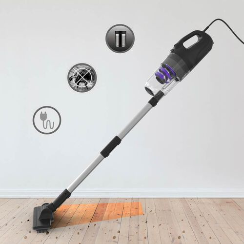 Multi Purpose Cyclone Vacuum Cleaner with 500cm BS Plug (Includes 1xCrevice Suction Tool, 1xMattress Tool, 1xBed Brush, 1xFloor Brush, 2xExtension Pipe, 1xSquare Brush, 1xBristle Brush, 1xBase)