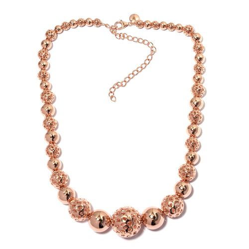 RACHEL GALLEY Momento Disc Necklace in Rose Gold Plated Sterling Silver 80.87 Grams