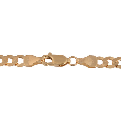 Hatton Garden Close Out- 9K Yellow Gold Flat Curb Necklace (Size 24), Gold wt. 10.63 Gms