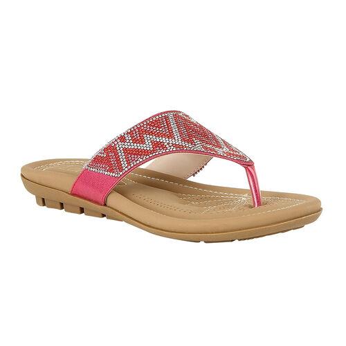 Lotus Patti Flat Toe-Post Sandals (Size 3) - Fuchsia Pink
