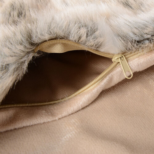 2 Piece Set - Faux Fur with Reverse Mink Cushion Covers (Size 45x45 Cm)