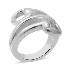 Sterling Silver Bypass Snaffle Ring