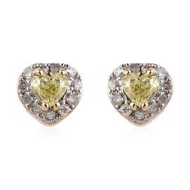 Diamond 9K Y Gold Earring  0.400  Ct.