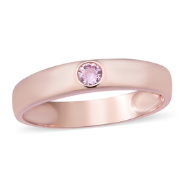 ELANZA Silmulated Pink Sapphire Band Ring in Sterling Silver