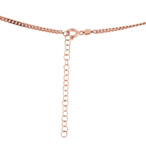 Rose Gold Overlay Sterling Silver Necklace (Size 16.5 with 2 inch Extender), Silver wt 8.36 Gms