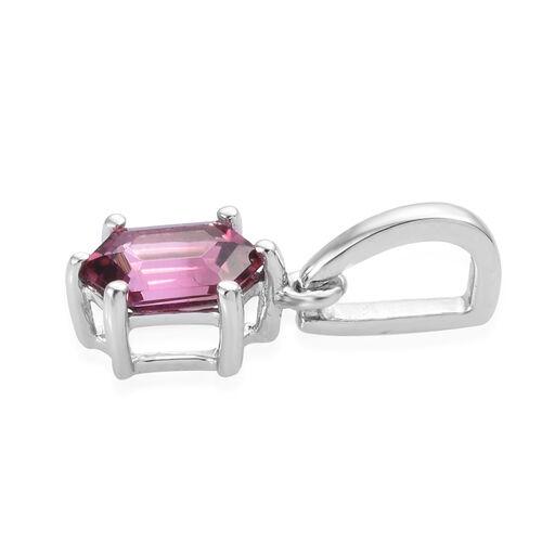 RHAPSODY 950 Platinum AAAA Pink Tourmaline Pendant 0.650 Ct.