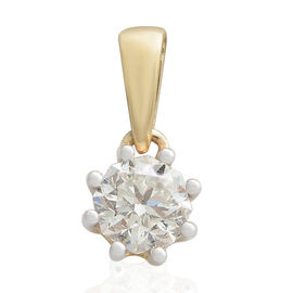 OCTILLION CUT ILIANA 18K Y Gold  IGI Certified Diamond (SI- GH) Solitaire Pendant (0.50 Ct) 0.500  C