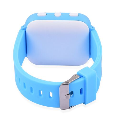 SMART Watch for Kids Supported by Free App. (with GPS Tracking, Calling, Texting, e- Fencing, Contact Book Features) - Colour Blue