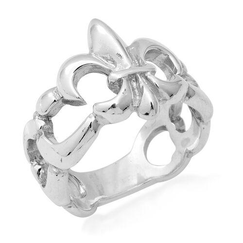 Fleur de lis Ring in Sterling Silver 9.07 Grams