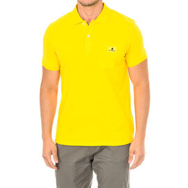 Karl Lagerfeld Mens Basic Polo Short Sleeve T-Shirt in Yellow Colour Size S