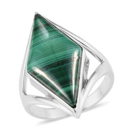 Sajen Silver - Malachite Ring in Sterling Silver 8.00 Ct.