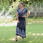JOVIE Floral Pattern Smocked Waist Maxi Dress with Flutter Sleeve (Size 35x125cm - Up To Size:18) -