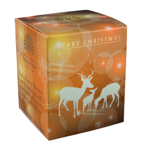 The English Soap Company: Pure Soy Wax Candle - Reindeer
