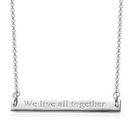 SPECIAL ORDER - Platinum Overlay Sterling Silver Necklace (Size 18), Silver wt 5.40 Gms