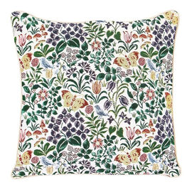 Signare Charles Voysey - Spring Flowers Pattern Cushion Cover  (45x45 cm)